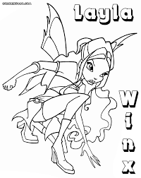 winx layla coloring pages coloring pages to download and print