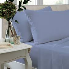 lansfield so soft non iron percale fitted sheet cornflower