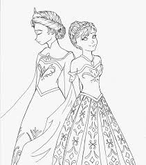 elsa anna coloring pages free 3474 cartoons coloring coloringace