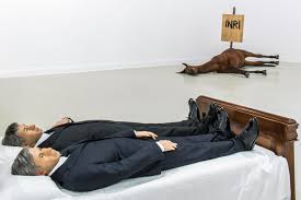 maurizio cattelan at centre for contemporary art ujazdowski castle