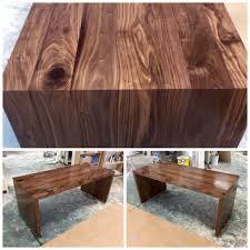 handmade modern parsons desk by natural mystic woodwork