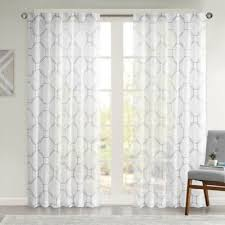 Sheer Gray Curtains Buy Sheer Grey Window Panels From Bed Bath Beyond