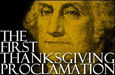 here is the original thanksgiving proclamation by president george