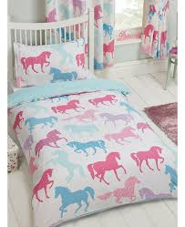 Teal Single Duvet Cover Patchwork Ponies Single Duvet Cover And Pillowcase Set Bedding