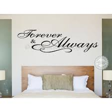 Quote Decals For Bedroom Walls Forever And Always Bedroom Wall Sticker Romantic Love Quote Decal