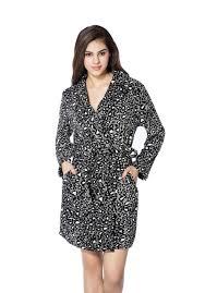 robe de chambre leopard femmes léopard chaud flanelle kimono bath robe de mariée peignoir de