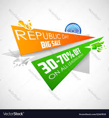 Flag If India Republic Day Of India Sale Banner With Indian Flag