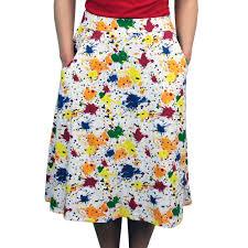 paint splatter flared skirt svaha apparel