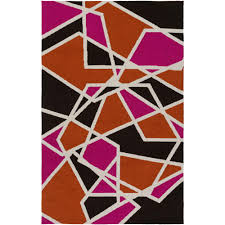 Pink And Black Rugs Momeni Geo Pink 7 Ft 6 In X 9 Ft 6 In Indoor Area Rug