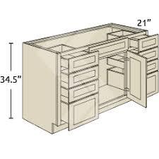 TVSD Shaker RTA Maple White Tall Vanity Sink Base Combination - Sink base kitchen cabinet