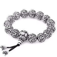 bead bracelet silver images Ancient lotus silver prayer beads bracelet ring to perfection jpg