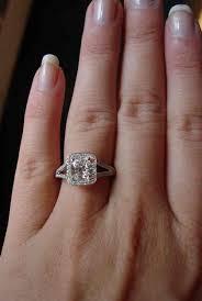 cushion cut split shank engagement rings 1 25halo ring 1 25 d vvs2 cushion awesome