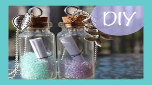 diy message in a bottle diy message in a bottle necklace diy friday