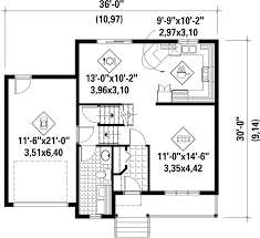 contemporary style house plan 3 beds 1 00 baths 1524 sq ft plan