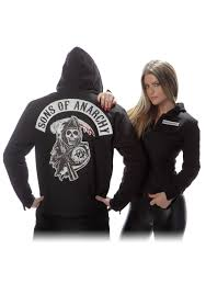 Plus Size Sons Of Anarchy Twill Highway Jacket