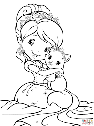 coloring pages mermaids dazzling strawberry shortcake coloring pages
