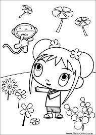 drawings paint u0026 colour ni hao kai lan print design 045