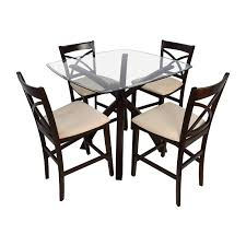 Dining Room Sets Nj by 34 Off Glass Dining Set With Tan Chairs Tables