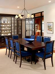 Blue Upholstered Dining Chairs Stunning Traditional Dining Room Design With Darkwood Coffee Table