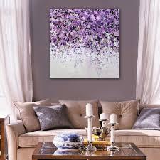 Home Decor Purple Online Get Cheap Purple Flower Prints Aliexpress Com Alibaba Group