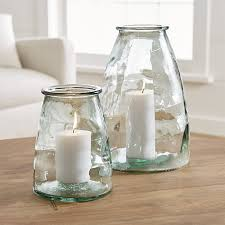 Hurricane Candle Holders Recycled Hurricane Candle Holders Crate And Barrel