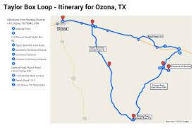 ozona map box road itinerary ozona