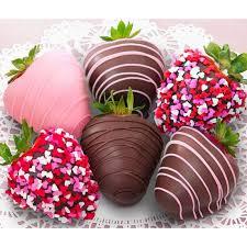 White Pink Chocolate Covered Strawberries Valentines Chocolate Covered Strawberries