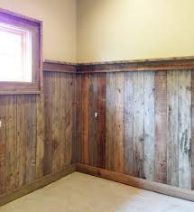 reclaimed wood such as palletwood makes a great wainscoting