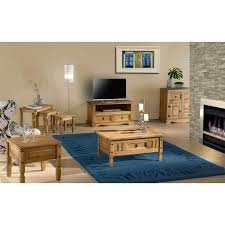 Pine Living Room Furniture by Corona Solid Pine 2 Drawer Flat Screen Tv Unit Furniture123