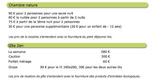 prix d une chambre d hote les tarifs de la chambre d hôtes et du gîte en sud vendée à grues au