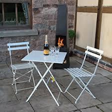 outdoor garden tables uk white 3 piece folding metal outdoor patio bistro set garden