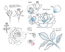 coloring page appealing rose drawing how to coloring page rose