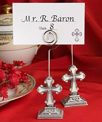 cross design place card photo holders
