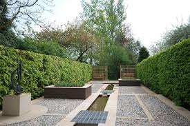 geometric garden design ideas landscape contemporary with privacy