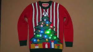 christmas tree sweater with lights lighted christmas tree jumper sweater christmas advert 2015 youtube