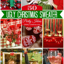 Ugly Christmas Decorations - ugly christmas sweater party ideas archives oh my creative