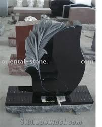 tombstone designs china black granite tree carving headstones cemetery engraved