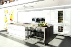 ilot cuisine blanc ilot cuisine blanc cuisine ilot central design 12 avec noir