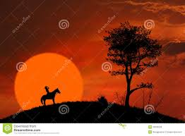 halloween horse background horse rider silhouette at orange sunset royalty free stock photos