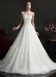 robe de mariã e traine forme marquise encolure déée traîne moyenne tulle robe de