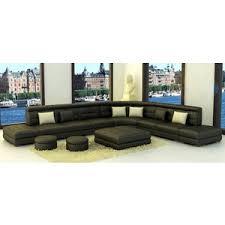 Leather Sectional Sofas Toronto Tosh Furniture Toronto Modern Leather Sectional Sofa In Black