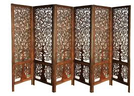 wooden room dividers artesia handcrafted 6 panel premium quality wooden room partition