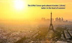 Why Is The Eiffel Tower About 6 Inches Taller In The Summer Than