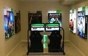Awesome Video Game Room Basement Maybe Homebar Pinterest - Game room bedroom ideas