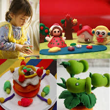 baby kids 3d soft handcraft colourful diy oven bake polymer clay
