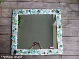 How To Decorate A Mirror How To Make A Sea Glass Mirror Cottage In The Oaks