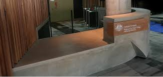 Concrete Reception Desk Concrete By Design Nishi Reception Desk