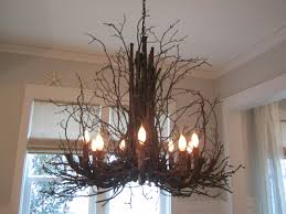 decor appealing tree branch chandelier with unique glass ball