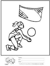 olympic volleyball coloring page kids activities pinterest