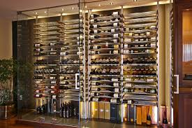 glass wine room in the dining room 1 modern wine cellar